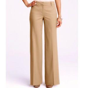 Ann Taylor Petite Flannel Modern Wide Leg Trousers